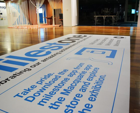 Temporary Floor graphics