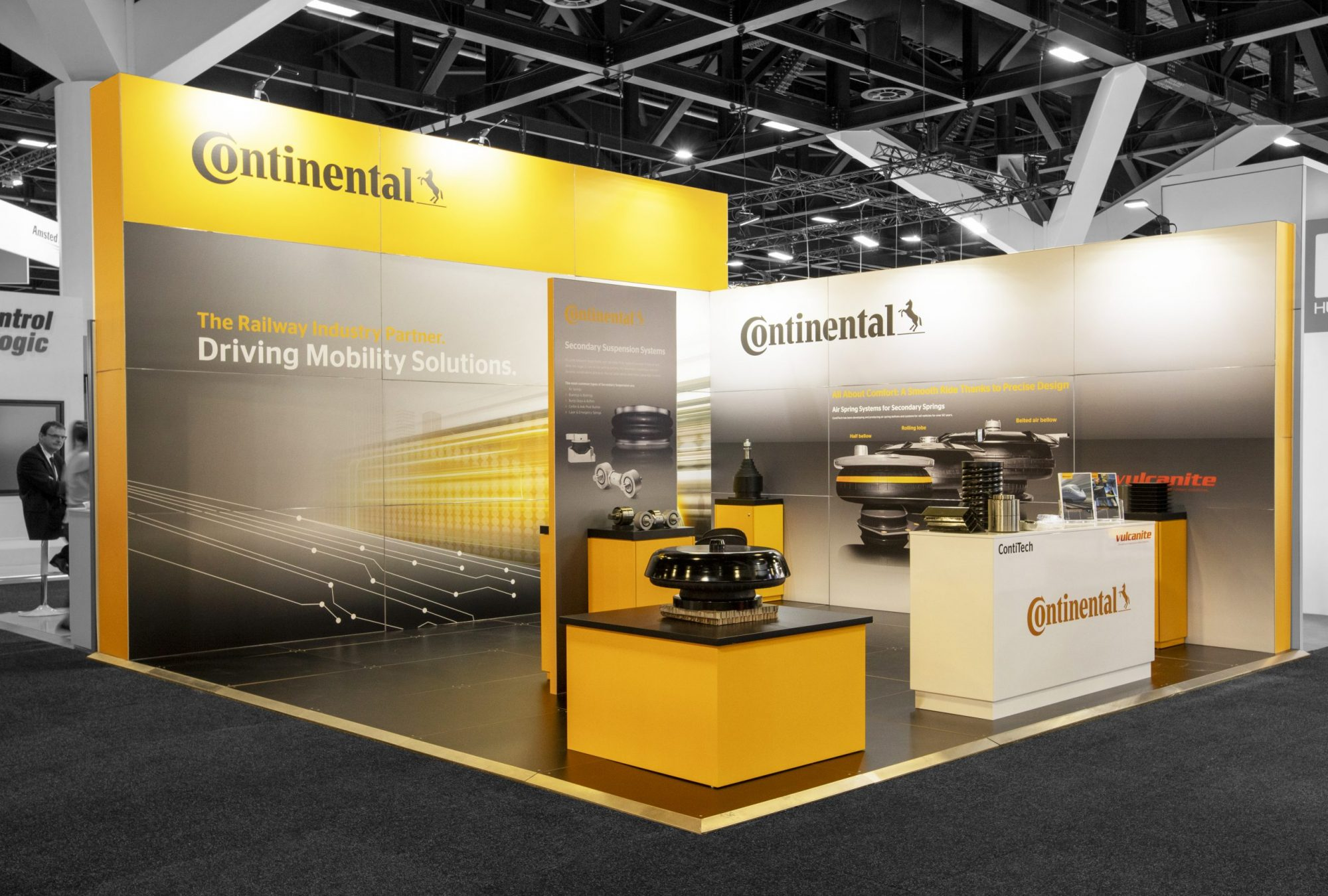 Continental/Vulcanite exhibition stand by Exhibitionco at AusRAIL 20219